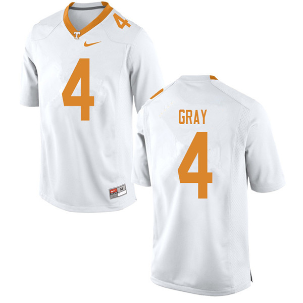 Men #4 Maleik Gray Tennessee Volunteers College Football Jerseys Sale-White